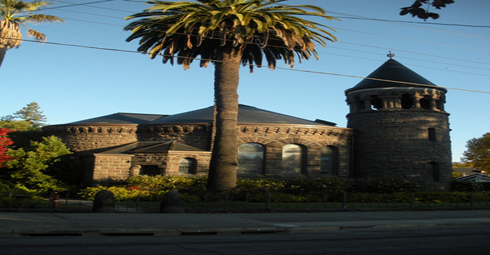 Montgomery Chapel in San Francisco, CA with unfading black slate roof
