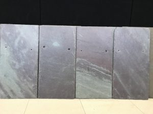 Samples showing the differences of slate roof tile