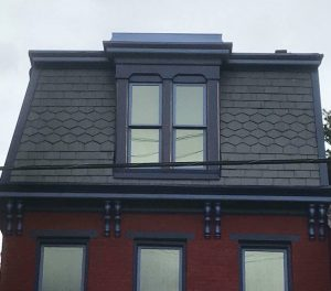 New unfading black mansard slate roof